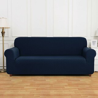 4-Seats Polyester and Spandex Rhombus Jacquard Box Cushion Sofa Slipcover by Winston Porter SKU:DC255841 Price Compare