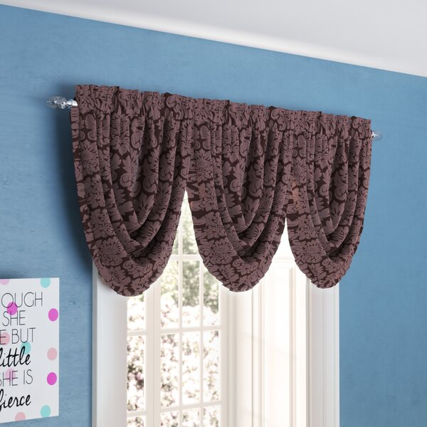Astoria Grand Beauvale Pleated Waterfall 48 Window Valance Reviews Wayfair