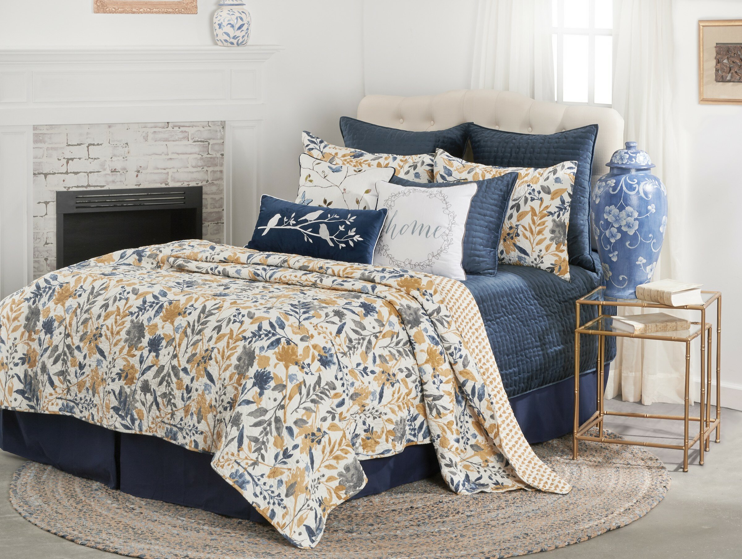 Andover Mills Elisa Reversible Floral 100 Cotton Quilt Set Reviews Wayfair