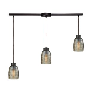 Snyder Linear Bar 3-Light Pendant by Latitude Run
