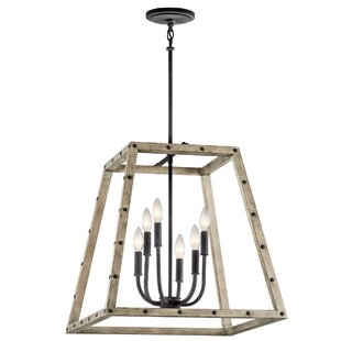 Basford 6-Light Square/Rectangle Pendant by Kichler