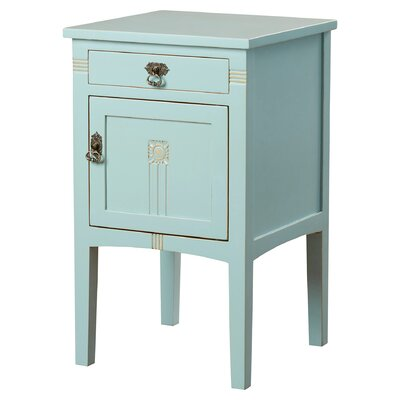 Corrie 1 Drawer Nightstand Color: Aqua by August Grove