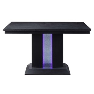 Halloway Glass Counter Height Dining Table Latitude Run