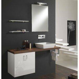 Urban Designs 130 cm Wandmontierter Waschtisch Clever mit Spiegel, Armatur und Schrank