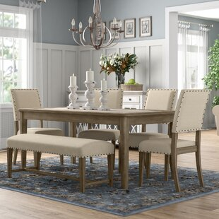 Crisp 6 Piece Dining Set Three Posts