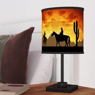 Cowboy and western lamps wayfair castillo western cowboys 1688 table lamp aloadofball Images