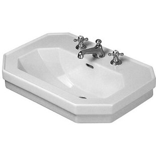 Coupon 1930 Series Ceramic 24 Wall Mount Bathroom Sink with Overflow ByDuravit
