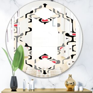 End Of Year Deals Price For Hexagon Star Abstract Design Ix Eclectic Frameless Wall Mirror By East Urban Home