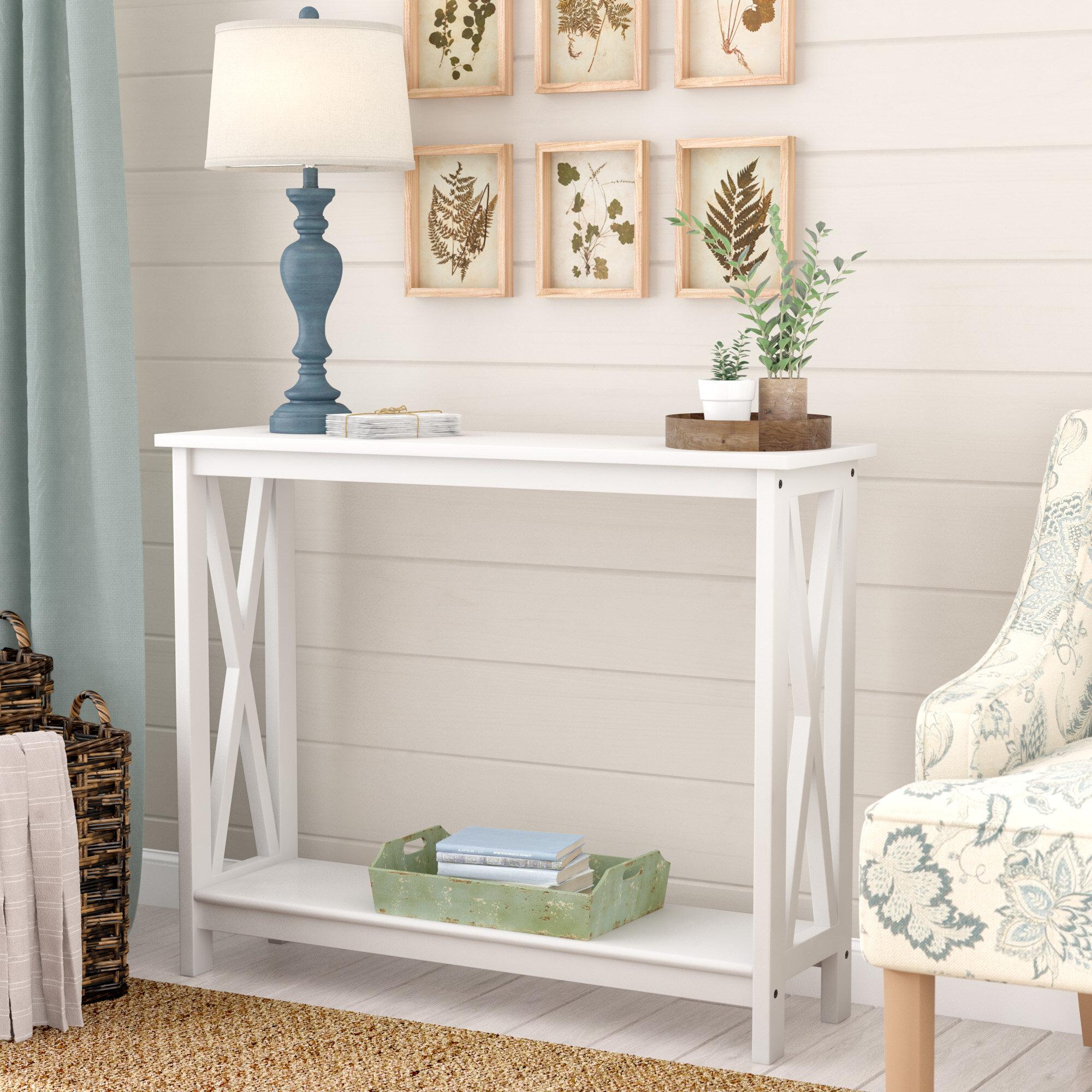 Breakwater Bay Haskins Decorative Console Table Reviews Wayfair