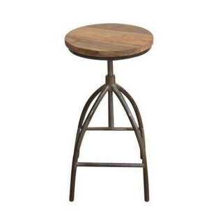 Noga Adjustable Height Swivel Bar Stool by Williston Forge