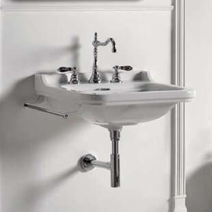 Waldorf Ceramic 24 Wall Mount Bathroom Sink with Overflow ByWS Bath Collections