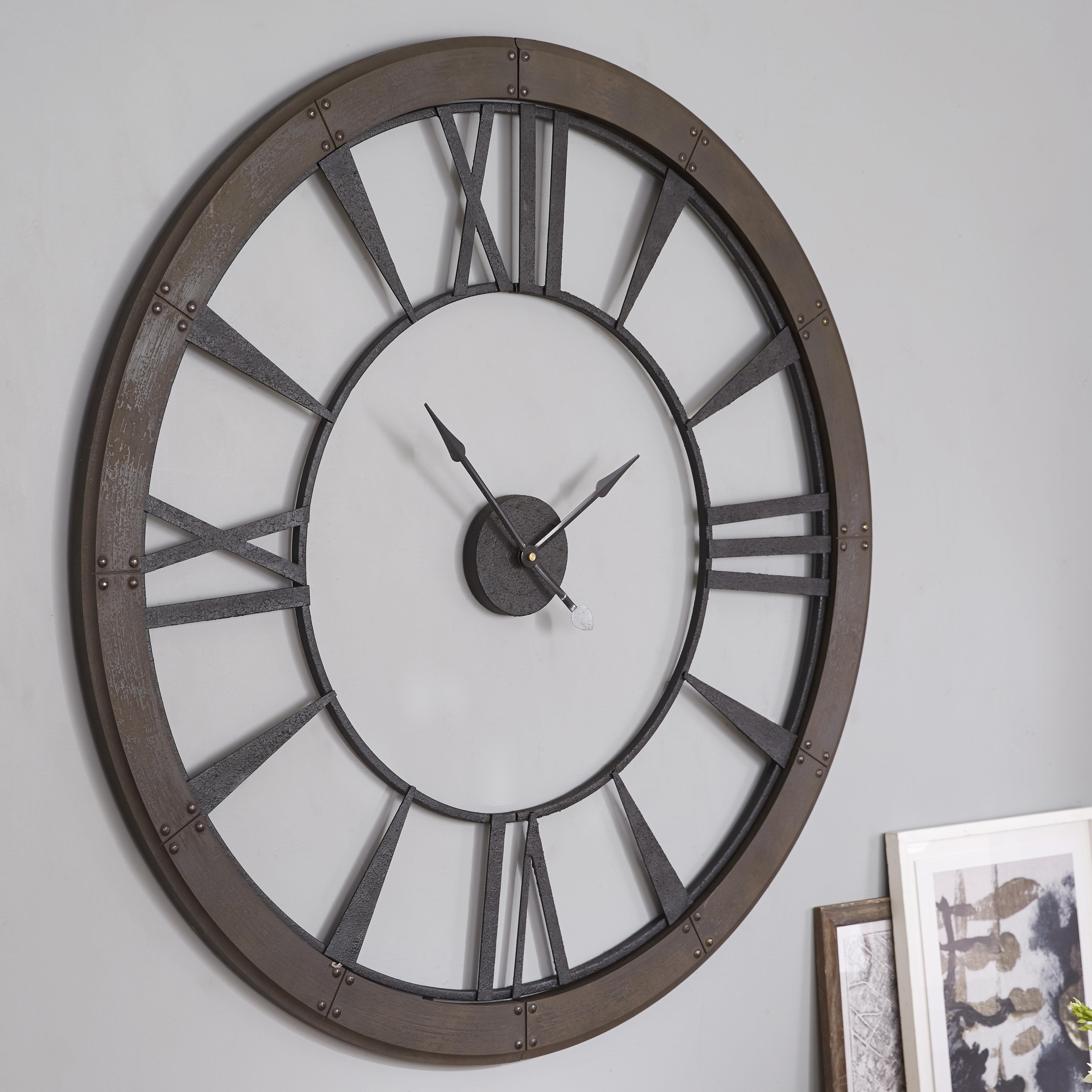 Lily Manor Oversized Paray 152 4cm Wall Clock Reviews Wayfair Co Uk