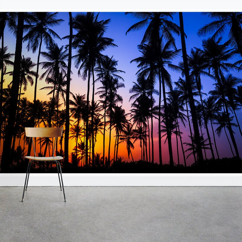 Palm Tree Sunset 8' x 144