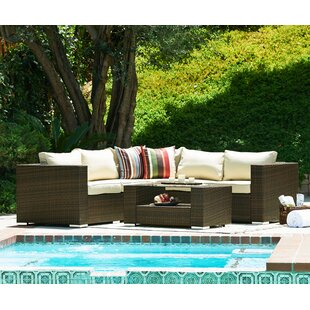 Bruckner 4 Piece Sectional Seating Group with Cushions by Ivy Bronx