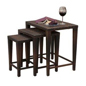 Kinslow 3 Piece Wicker Nesting Table Set