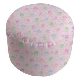 Avicia Round Insert Pastel Cupcake Pouf by Latitude Run