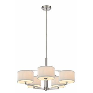Cervantes 5-Light Shaded Chandelier by Latitude Run