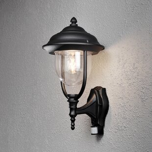 Parma Modern Up 1 Light Outdoor Wall Lantern With Motion Sensor By Konstsmide
