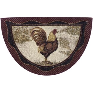 Cozy Cabin Tall Rooster Kitchen Mat