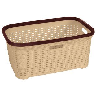 Rebrilliant Wicker Bushel Laundry Basket