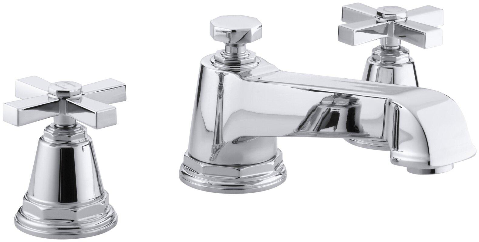 Bathroom Faucet Not Flowing kohler pinstripe pure deck-mount bath faucet trim for high-flow