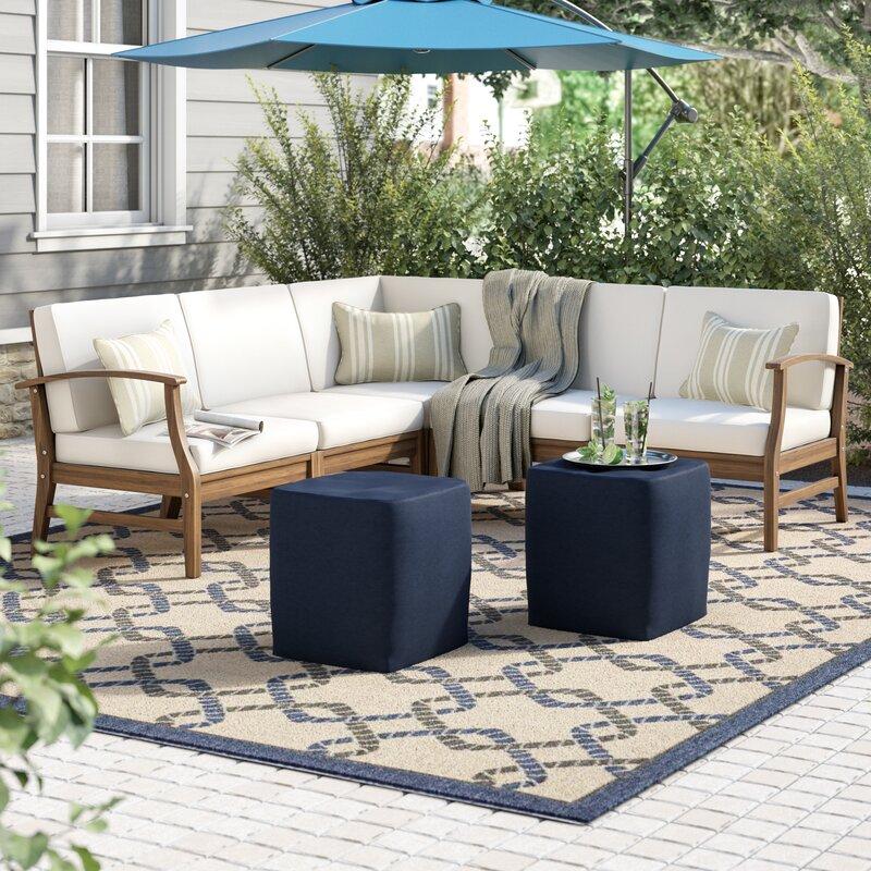 Joss Main Antonia 5 Piece Sectional Seating Group With Cushions Reviews Wayfair Ca