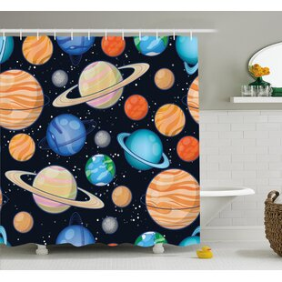 Mariah Galaxy Space Art Solar Single Shower Curtain