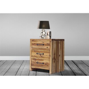 Affordable Price Camilo 3 Drawer Nightstand ByUnion Rustic