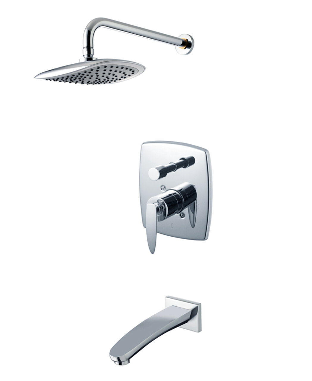 Eden Diverter Dual Function Volume Control Tub And Shower Faucet With Valve And Trim