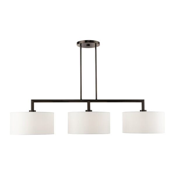 Brandeis 3 - Light Kitchen Island Linear Pendant by Everly Quinn