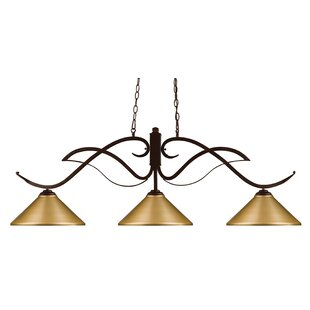 Fleur De Lis Living Billingham 3-Light Pool Table Light