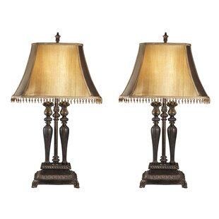 Best Carnglass More 2 Light Lamp Set (Set of 2) By Astoria Grand