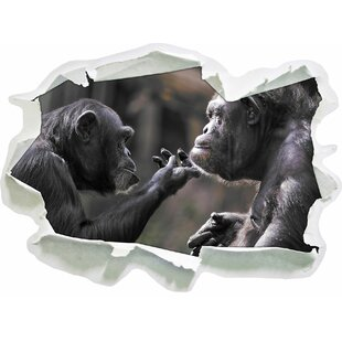 Chimpanzee Friendship Wall Sticker By East Urban Home