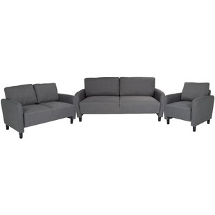 Read Reviews Stellert Upholstered 3 Piece Living Room Set by Ebern Designs Reviews (2019) & Buyer's Guide