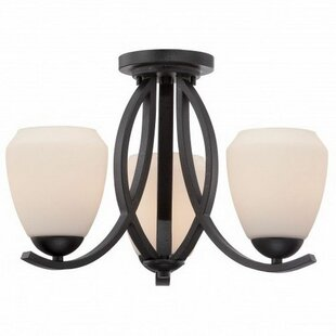 Ariana 3-Light Semi Flush Mount by Red Barrel Studio