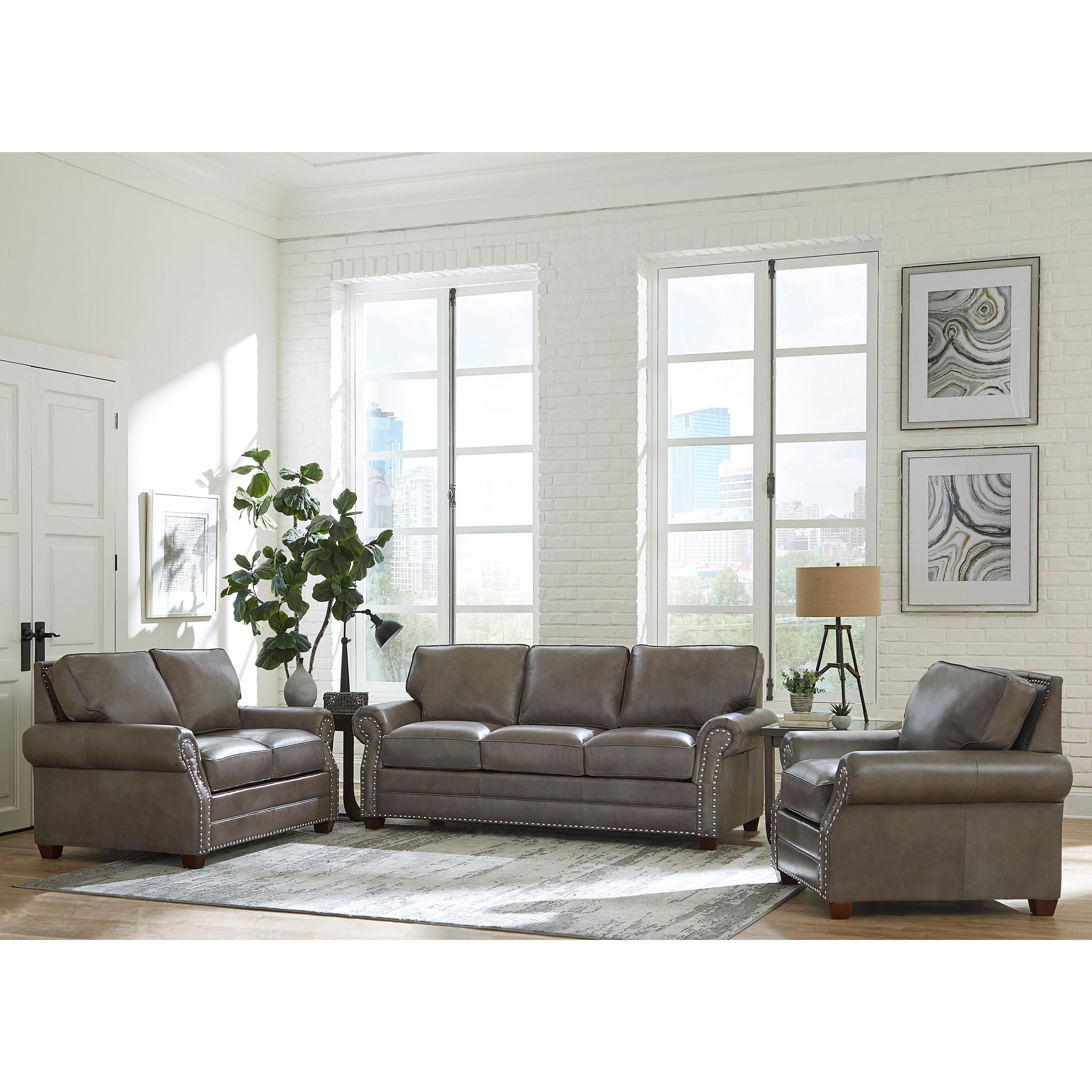 Pedigo 6 Piece Leather Living Room Set