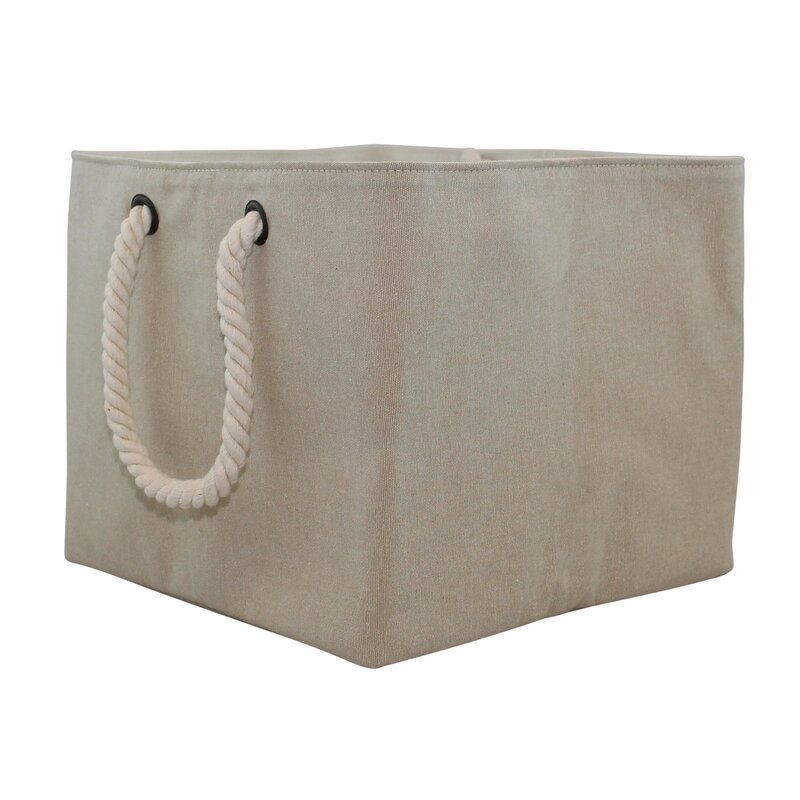 Storage Fabric Bin With Rope Handle