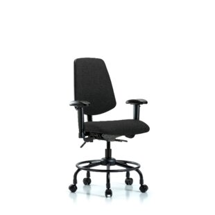 Symple Stuff Max Round Tube Base Desk Height Ergonomic Office Chair