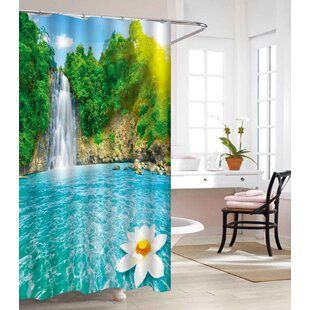 Waterfall Heavy-Weight Waterproof Vinyl Single Shower Curtain