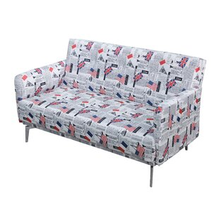 Schoenherr Flag Print Fabric Modern Loveseat by Ebern Designs