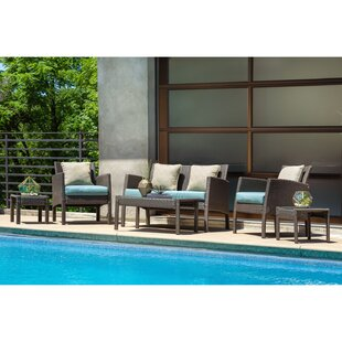 Sapphire 6 Piece Sofa Seating Group with Cushions