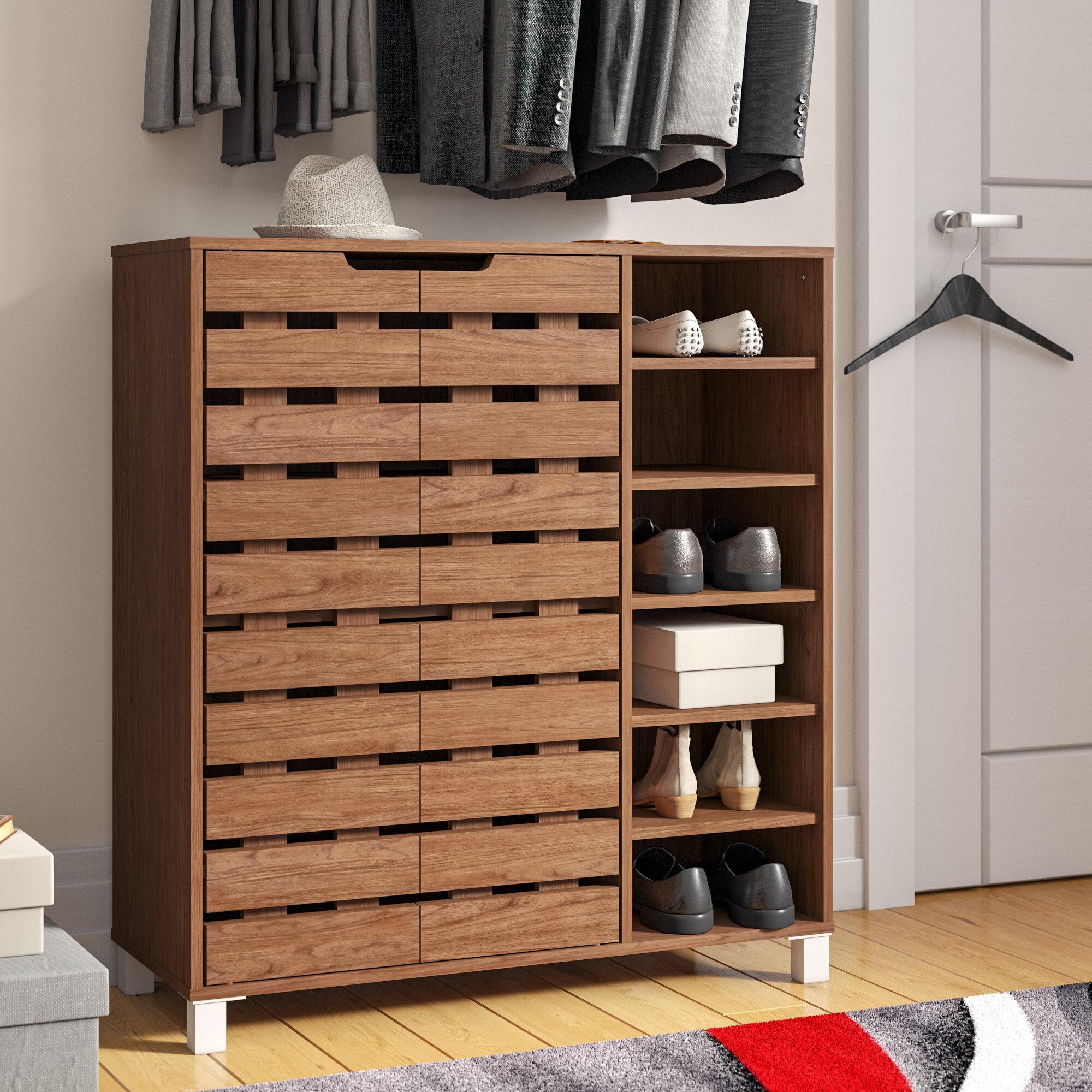 Zipcode Design 18 Pair Shoe Storage Cabinet Reviews Wayfair
