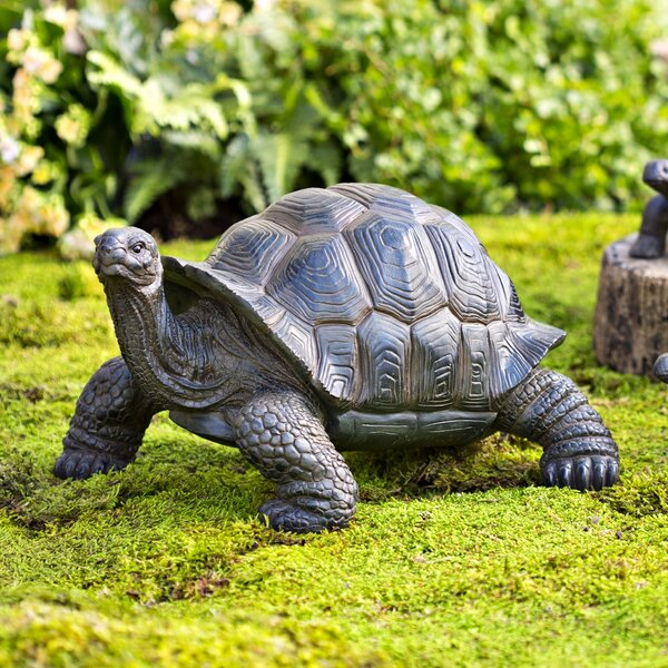 Plow Amp Hearth Tortoise Family Resin Garden Accents Statue