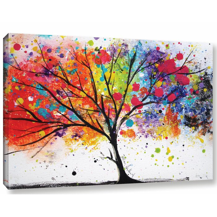 latitude run rainbow tree ii painting print on canvas reviews