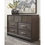 Wafrt 7 Drawer Double Dresser with Mirror by Red Barrel Studio®