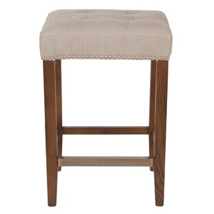 "Bukovice 26"" Wooden Beige Bar Stool by"