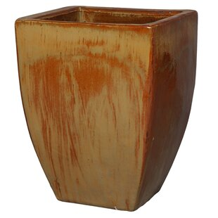 Emissary Home and Garden Square Ceramic Pot Planter