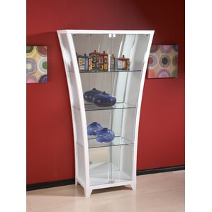 Flair Lighted Curio Cabinet by Chintaly I..