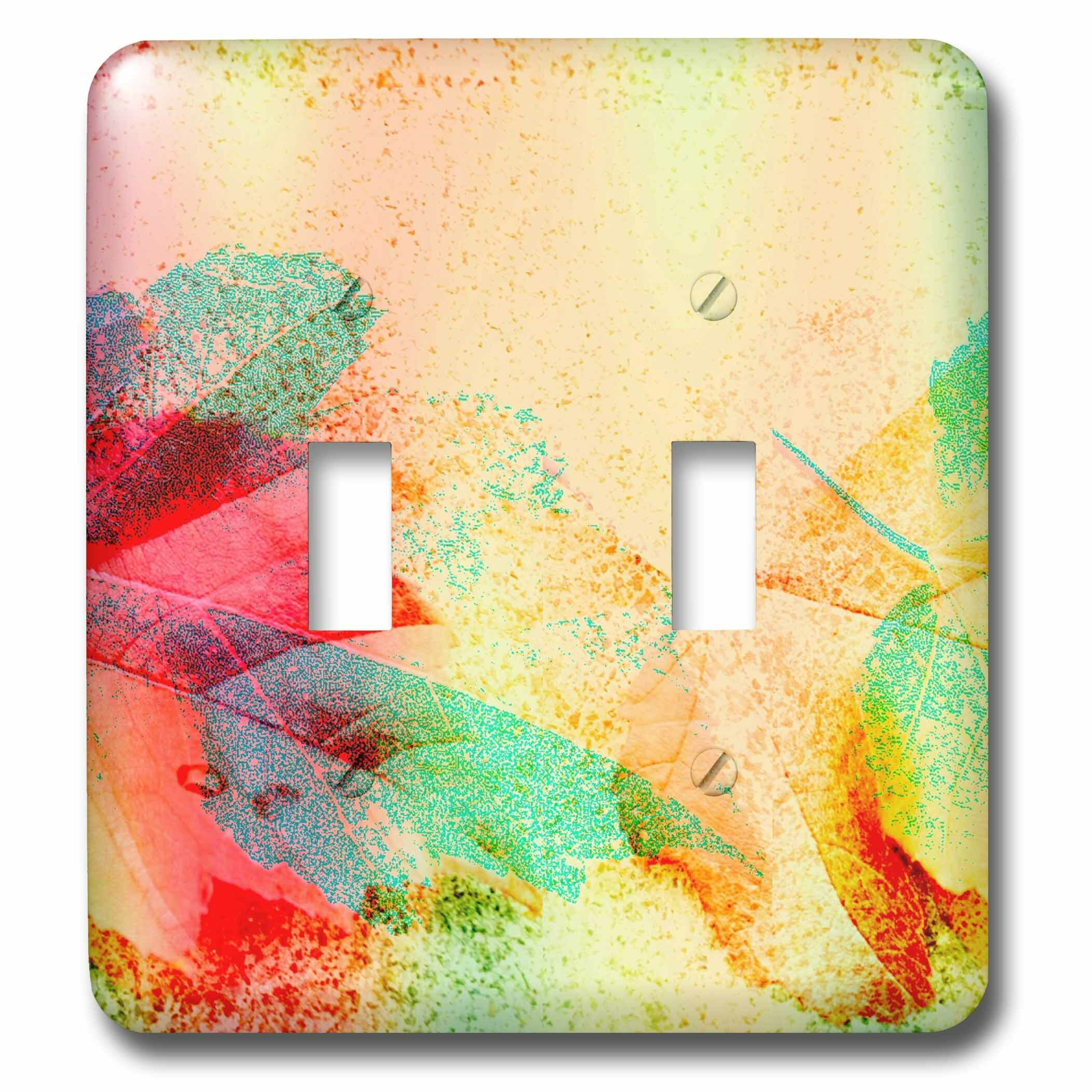 3drose Leaf Abstract 2 Gang Toggle Light Switch Wall Plate Wayfair