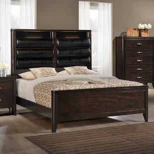 Orren Ellis Babcock Upholstered Panel Bed with LED
